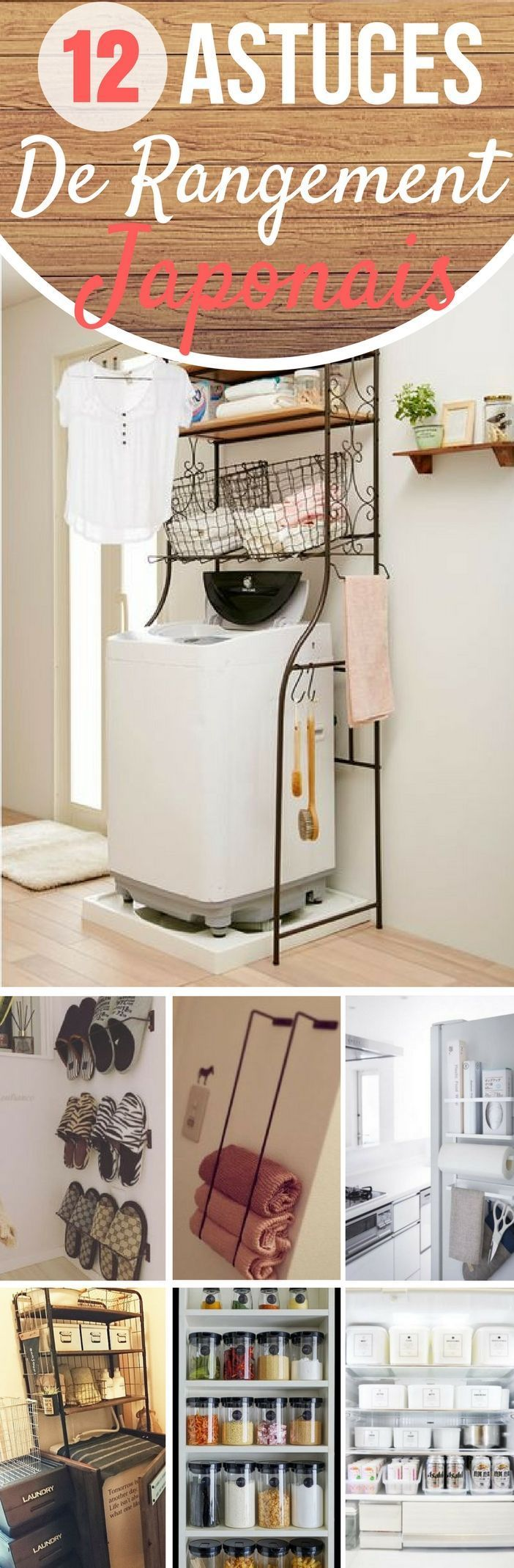 12 brillantes id es de rangement japonaises d co maison home decor home organisation et. Black Bedroom Furniture Sets. Home Design Ideas
