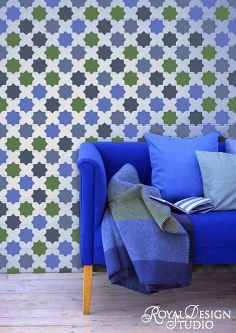 bright #blue #couch