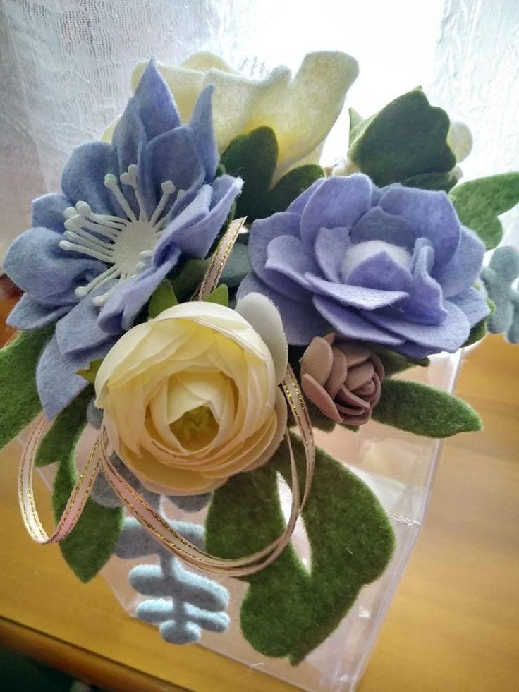 @fiori in feltro e pannolenci,Felt flowers | Fiori di ...