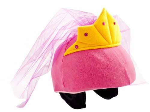Princess Helmet Cover (Pink) - One Size Fits All Kids Sports Helmets - For Bike, Skateboard, Rollerblade, Ski, Snowboard, Hockey, Toboggan, Skate, Equestrian, Bicycle - Superb Quality - Safety & Fun Combined Tail Wags Helmet Covers