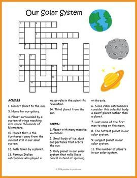 planets and moons crossword - photo #4