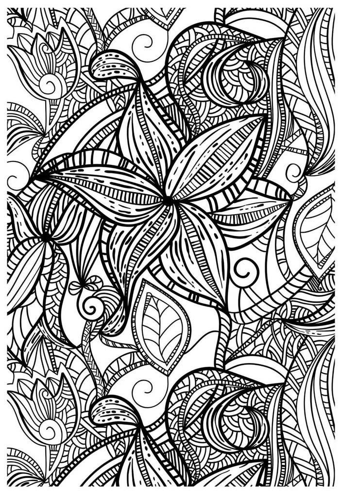 Coloriage fleurs g om triques coloring pages coloriage coloriage adulte coloriage anti stress - Coloriage fleur geometrique ...
