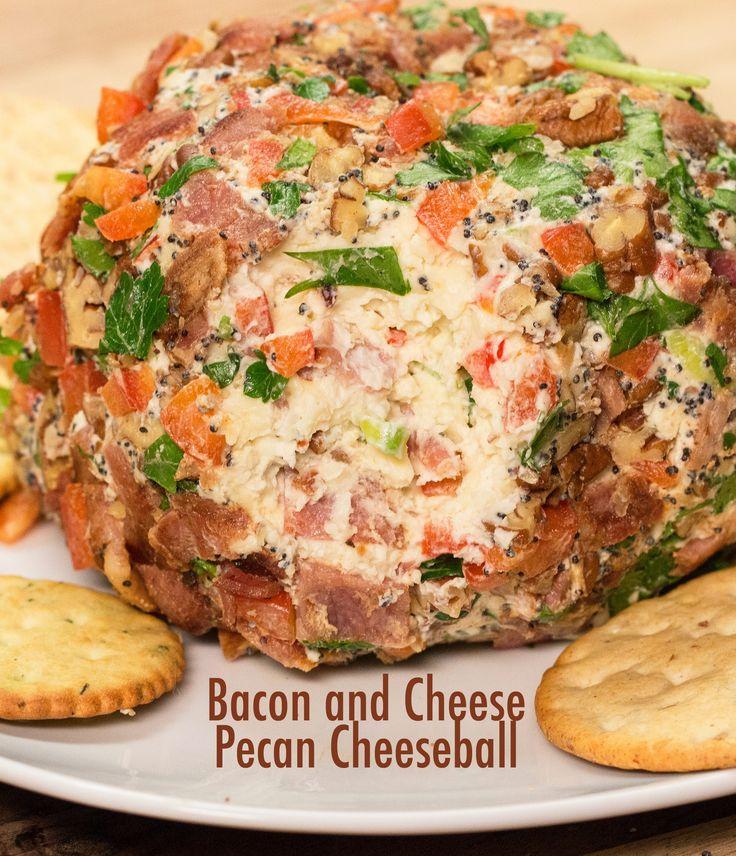 Bacon And Cheese Peacan Cheeseball