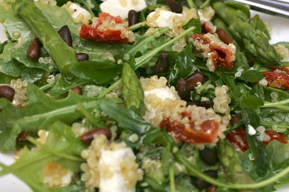 California Pizza Kitchen Style Quinoa & Arugula Salad recipe on Food52.com  I had this when I ate at California Pizza Kitchen - to DIE for!  Gonna be making this REAL soon!