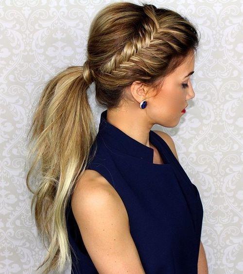 Superb 1000 Ideas About Braided Ponytail Hairstyles On Pinterest Short Hairstyles Gunalazisus