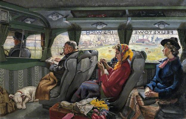 The Felixstowe to Ipswich Coach by Russell Sidney Reeve  My favourite local painting...