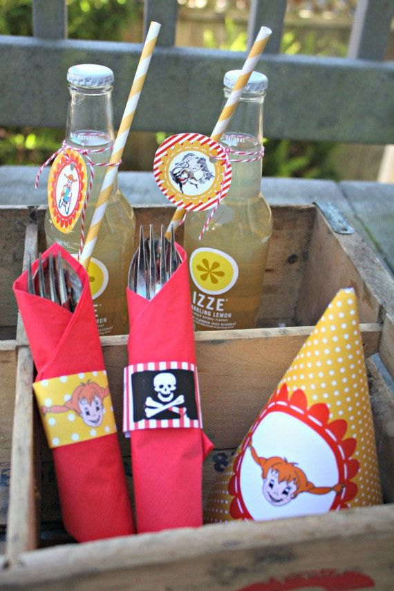 Pippi Calzelunghe - Pippi Longstocking - Festa di Compleanno personalizzabile - Personalized Printable Party. $29.00, via Etsy.
