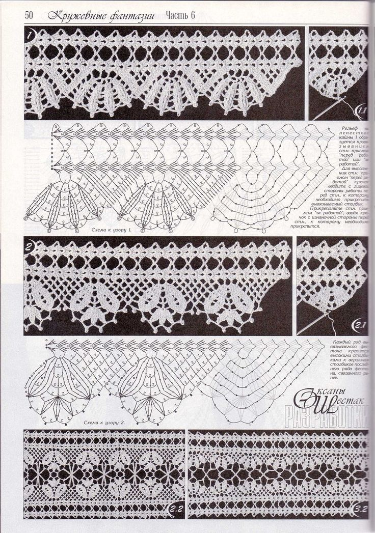 floral edging       ♪ ♪ ... #inspiration_crochet #diy GB