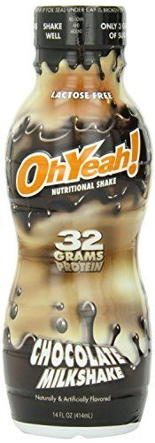 Oh Yeah! RTD Shake, Chocolate Milkshake, 14oz, 24 bottles *** Read more reviews of the product by visiting the link on the image.