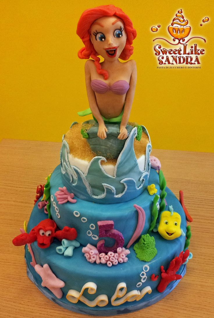 Torta La Sirenetta - Little Mermeid Cake