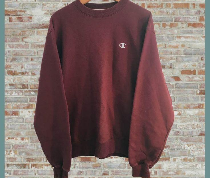 Vintage Champion Crewneck Sweatshirt Maroon