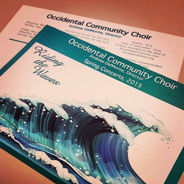 Hot off the presses! The Occidental Community Choir is hosting their Spring concert and asked us to print up their #advertising #postcards. They turned out wonderfully.