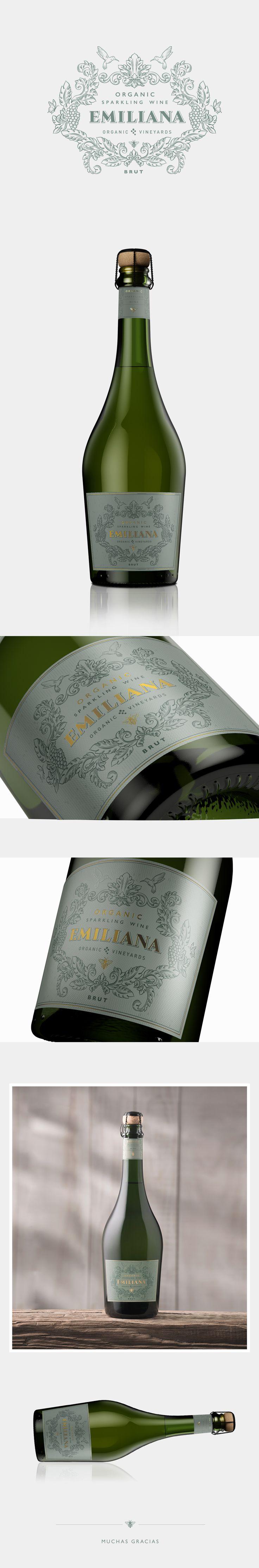 Organic Sparkling Wine | EMILIANA on Behance
