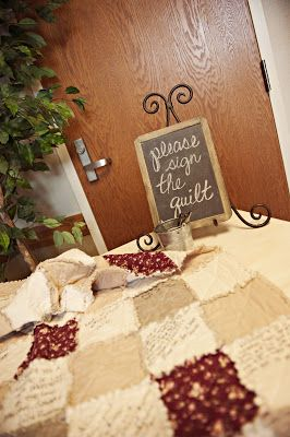 instead of a book - have wedding guest sign a quilt