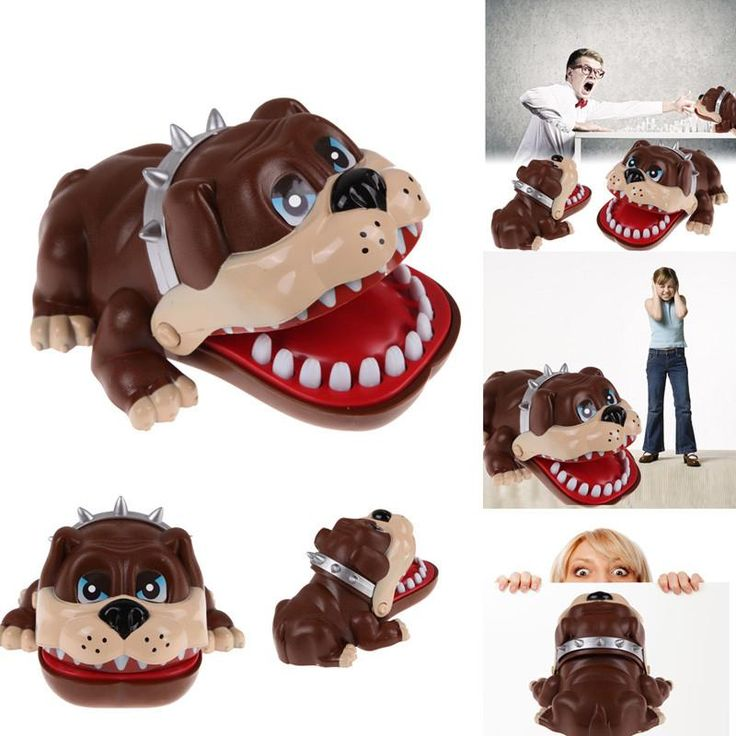Funny Gift Toy Cute Large Bulldog Dentist Mouth Bite Finger Game Lucky Dog Tooth Dentist Game Toys for Children