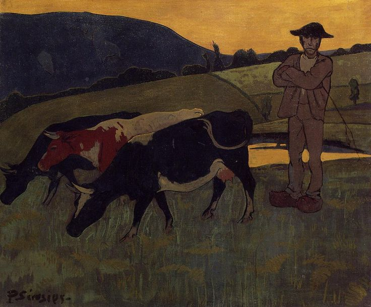 Peasant with Three Crows by @paulserusier #cloisonnism