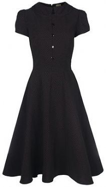 Black dress peter pan collar variations