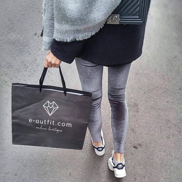 Premium velvet grey leggings