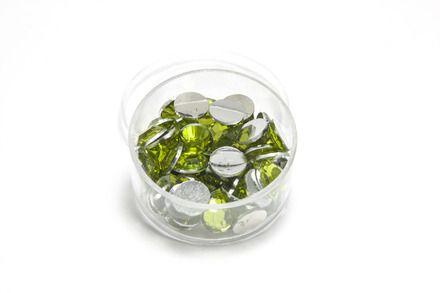 strass à coller  olive  : Cabochons, demi-perles par l-electron-libre sur ALittleMercerie