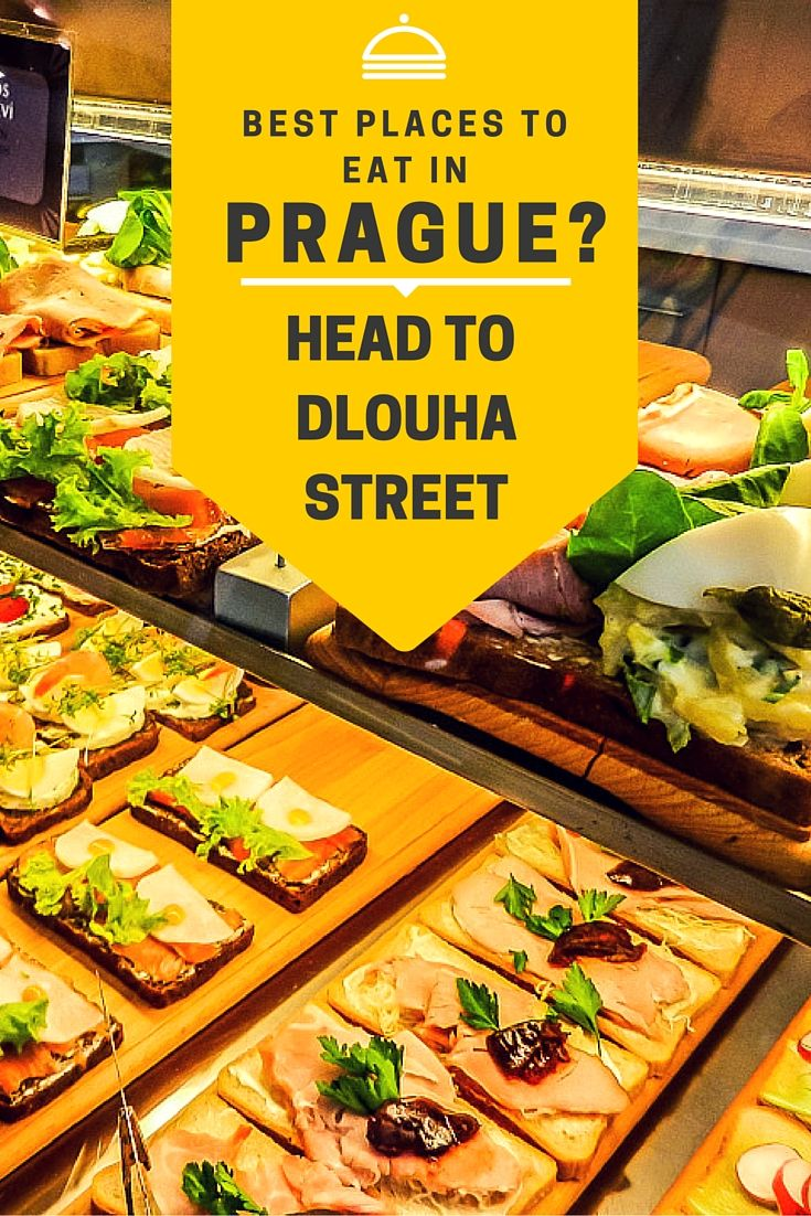 Best places to eat in Prague? Head to Dlouha Street.