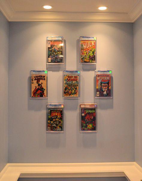 best 25 comic book display ideas on pinterest man cave ideas nerd comic room and batman man cave. Black Bedroom Furniture Sets. Home Design Ideas
