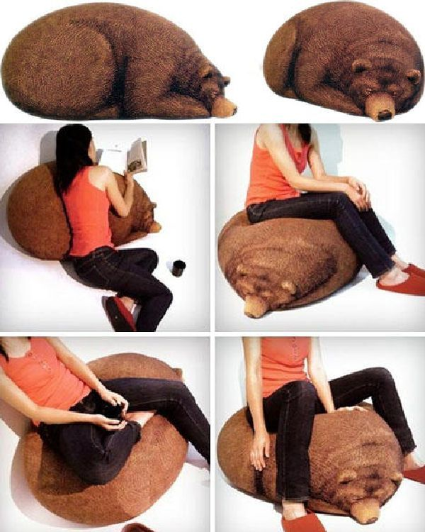 Comfortable Bear Beanbag Chair Design By Chic Sin