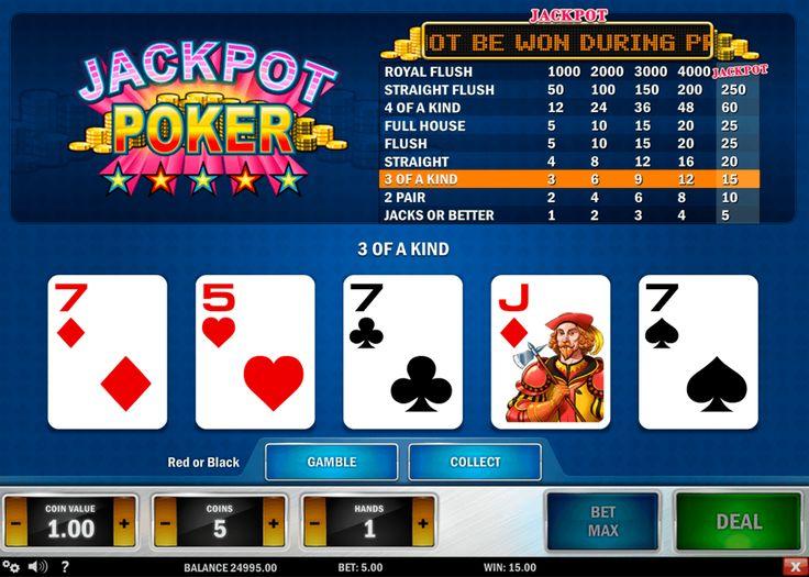 Pour les joueurs qui commencent à découvrir le poker vidéo, l'appareil Jackpot Poker avec ses règles simples et l'animation passionnante  vous conviendra parfaitement. C'est le poker en ligne de Play'n Go avec des fonctionnalités qui permettent de doubler ou même quadrupler vos gains. Si vous cherchez la créativité dans les jeux de hasard, le développeur a essayé de vous frapper par le design originale.