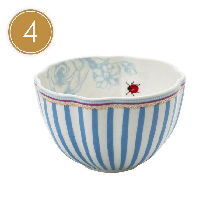 Lisbeth Dahl Stripey Bowl - Box of 4 | ACHICA £32