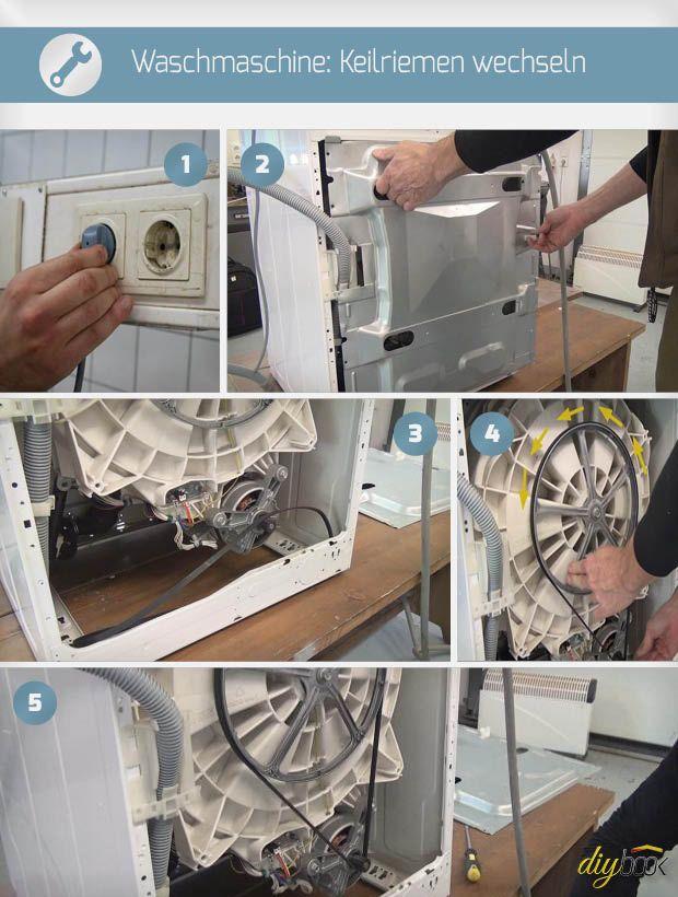 Waschmaschine Keilriemen Wechseln Anleitung Diybook At Keilriemen Wechseln Waschmaschine Wasche