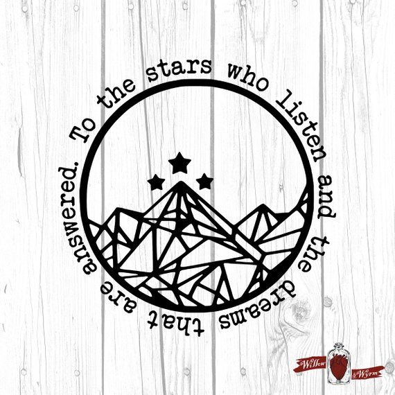 Night Court Decal, ACOTAR, Rhysand, Feyre, Court Of Dreams