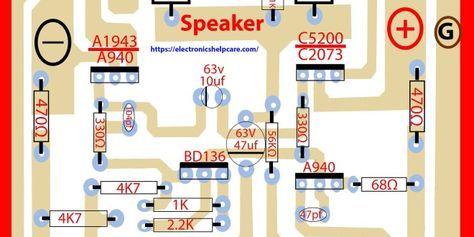 2sc5200 2sa1943 amplifier circuit diagram pcb | Audio Amplifiers in