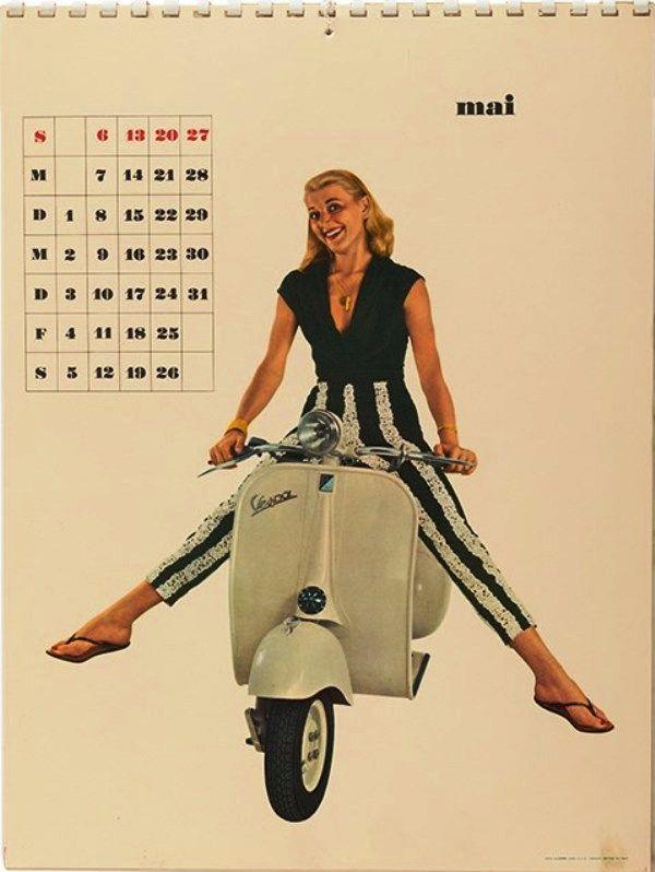 Calendar Girl May : Best images about vespa calendars i on pinterest