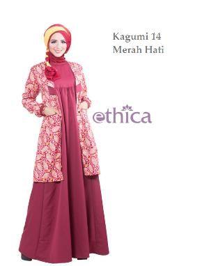 Baju Wanita Gamis Ethica Kagumi 14 Merah