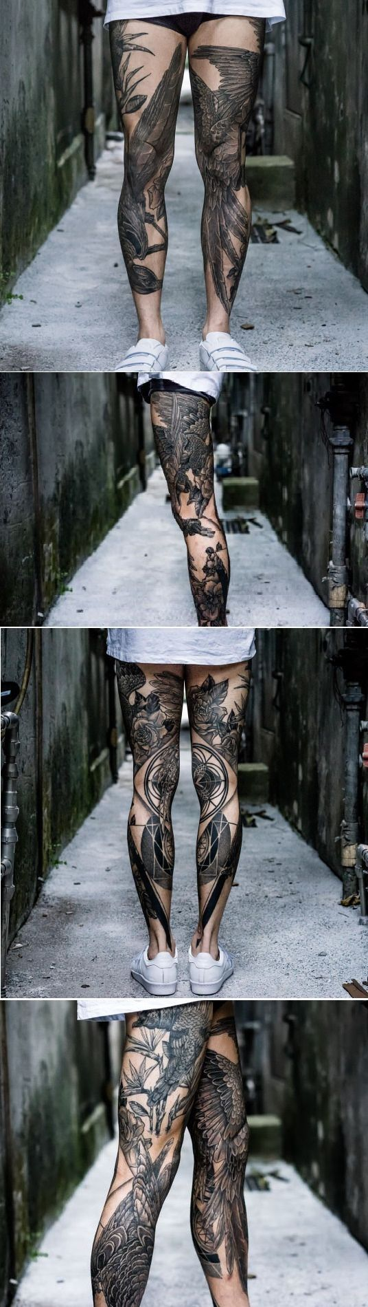 Im going to be honest i don't really like leg tattoos but this one is pretty damn cool.