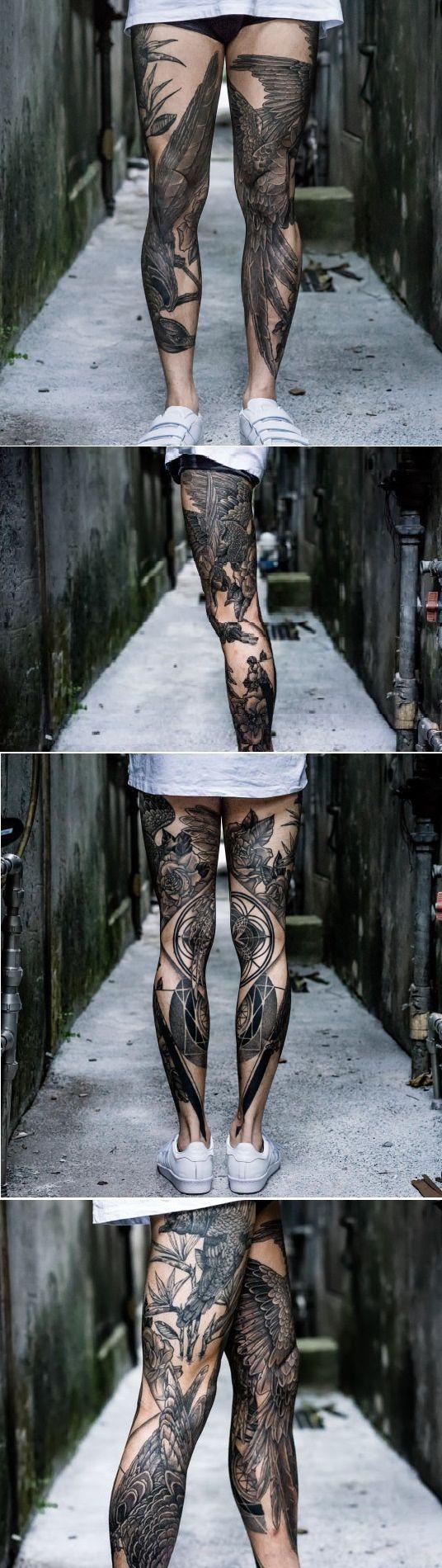 Amazing Leg Tattoo Ideas For Girls Trending 2017
