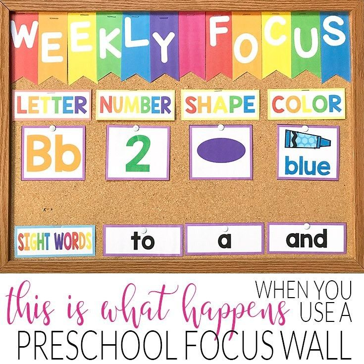 "14 Likes, 1 Comments - Shannon (@tptsuperteacher) on Instagram: ""New post on the blog! Believe it or not this preschool focus board is super effective and you can…"""