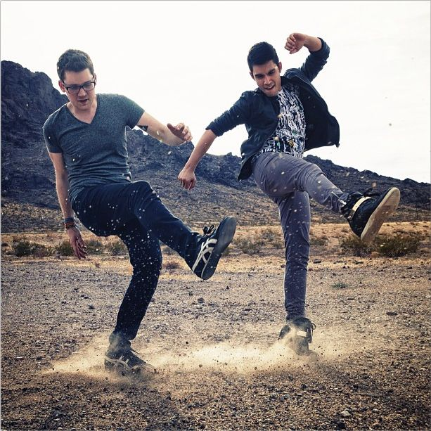 alex goot and sam tsui!! two basically perfect guys <3