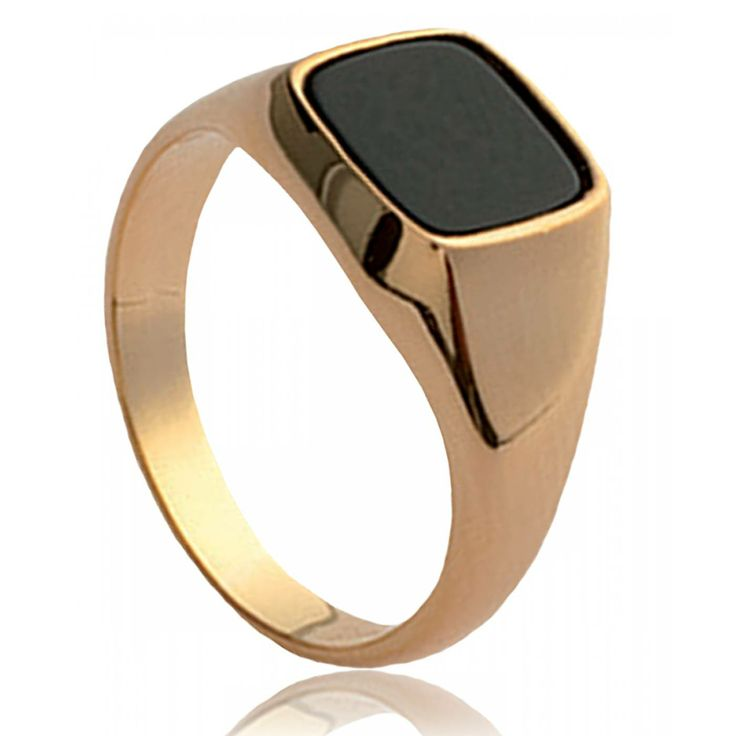 Men onyx Elixir black signet rings