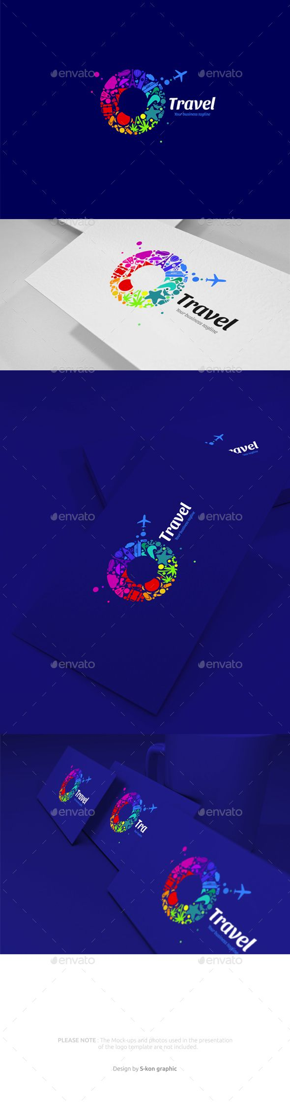 Travel Logo  — EPS Template #vacation #Travel plane #colorful #company #tourism…