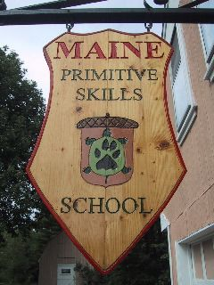 Maine Primitive Skills School is a wilderness survival school located on 23 wooded acres in Augusta, Maine. Teaches: primitive skills, survival skills, wilderness survival, modern survival, bushcraft, native awareness, wildlife tracking, earth living, shelter building, water collection & disinfection, friction fire making, bow making, flintknapping, wild edibles, hide tanning, scout skills, primitive hunting, earth philosophy, drum making, survival trapping, and more.