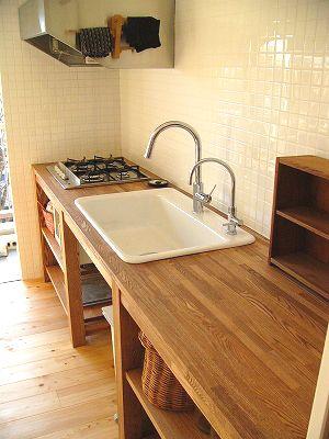造作キッチン 造作洗面化粧台 壁面収納:川崎でリフォームするならリフォームプロ