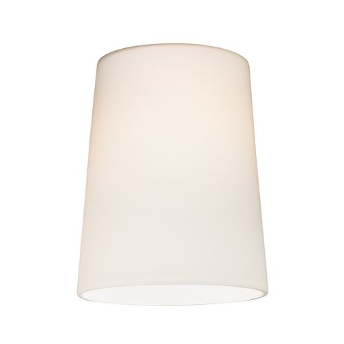 lighting cone glass shade in satin white lipless with 1 5 8 inch. Black Bedroom Furniture Sets. Home Design Ideas