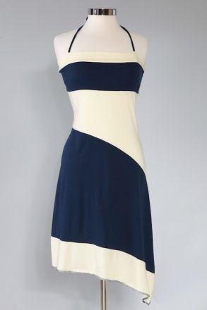Synergy Clothing Organic   Two Tone Halter Dress - Dresses