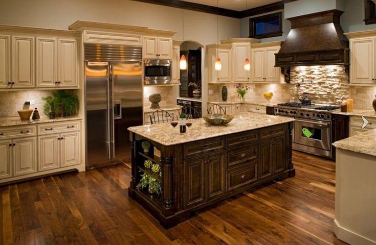 kitchen design, cream kabinet | Tuscan meets Contemporary: Kitchen Design