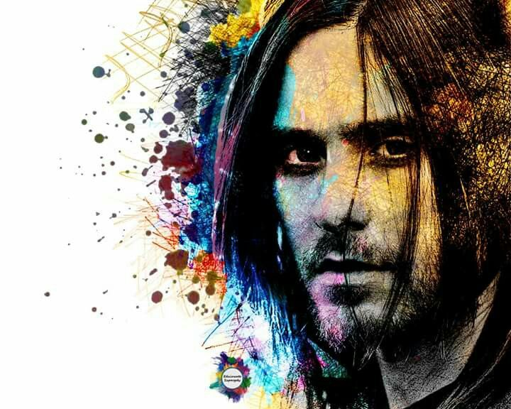 Jared Leto in colorful Lines