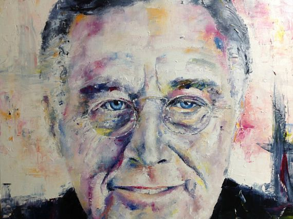 Franklin Roosevelt Painting Original Oil Painting Canvas FDR