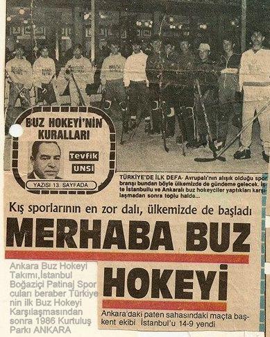 Türkiye Buz Hokeyi Tarihi: Buz Hokeyi ve Artistik Buz Pateni Tarihi Gazete Ha...