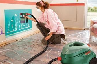 Pittura a spruzzo: idee per dipingere le pareti di casa