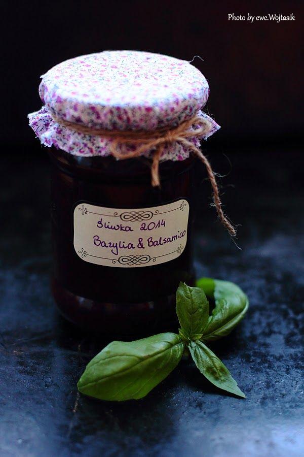 Dżem śliwkowy z bazylią i octem balsamicznym/Plum jam with basil and balsamic vinegar
