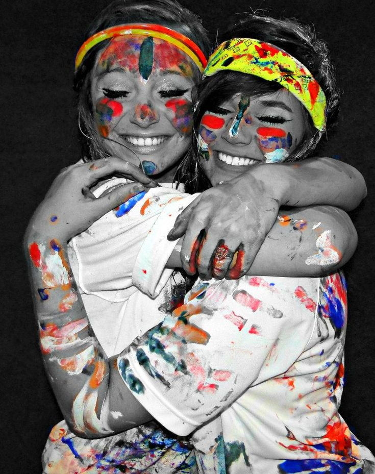 I really wanna have a paint fight with my best friend!(:
